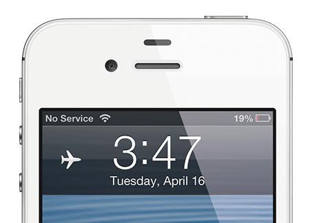 iphone mode avion LiPhone en mode avion : pas si inutile...