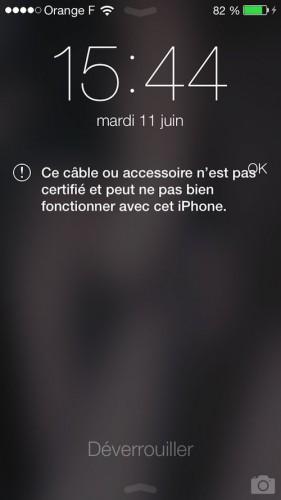 Cables non compatibles ios 7 1 281x500 iOS 7 incompatible avec les câbles non officiels