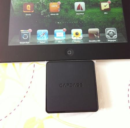 Ccrs CapdaseConnector 002 Accessoire : Capdase Dock Connector 3 slots (29,49€) pour iPad