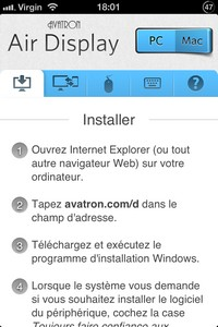 IMG 2513 Air Display : Un concept intéressant mais perfectible...(8,99€)