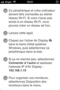 IMG 2514 Air Display : Un concept intéressant mais perfectible...(8,99€)