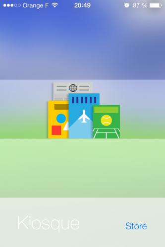 Kiosque ios 7 11 333x500 Aperçu diOS 7 par App4Phone : Kiosque