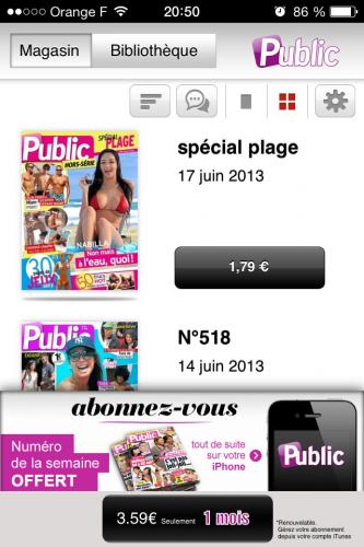 Kiosque ios 7 3 333x500 Aperçu diOS 7 par App4Phone : Kiosque