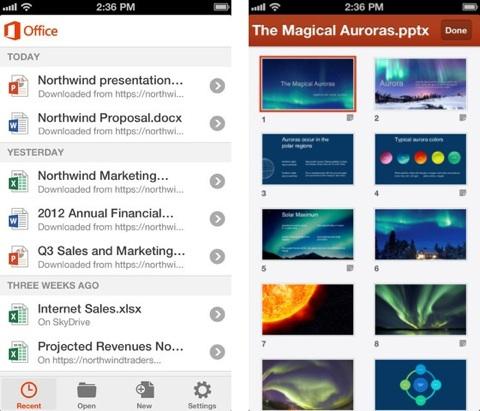 Office 365 1 Microsoft Office 365 enfin disponible sur lApp Store Français