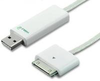 Test DeximUsb 001 Test du Chargeur luminescent iPhone, iPod et iPad   Dexim Visible Blue Cable
