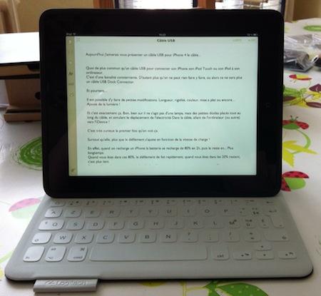 Test FabricSkin 002 Test du FabricSkin Keyboard (149€) de Logitech, coque avec clavier intégré pour iPad 2 à 4