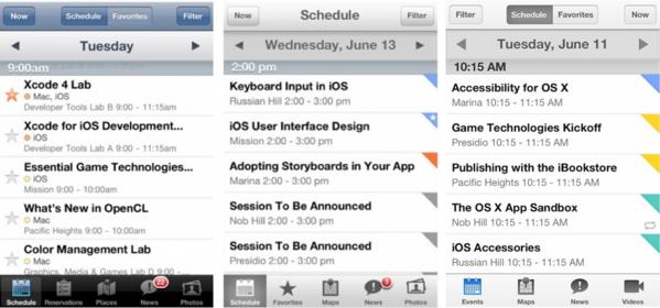 application WWDC Apple Apple propose lapplication officielle de la WWDC (gratuit)... révélatrice dun design aplati ?