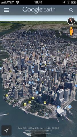 google earth application Google Earth (gratuit) ajoute Street View dans sa version 7.1.1