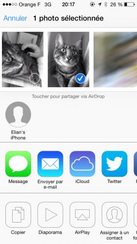 iOS 7 AirDrop 2 281x500 Aperçu diOS7 par App4Phone : AirDrop en action !