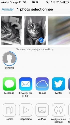 iOS 7 AirDrop 3 281x500 Aperçu diOS7 par App4Phone : AirDrop en action !