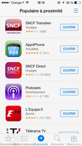 iOS 7 App Store 4 281x500 Aperçu iOS 7 par App4Phone : lApp Store