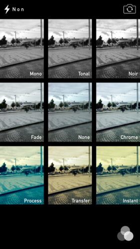 iOS 7 appareil photo 3 281x500 Aperçu diOS 7 par App4Phone : lappareil et lalbum photo
