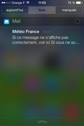 iOS 7 centre notifications 2 333x500 Aperçu diOS 7 par App4Phone : le Centre de notifications