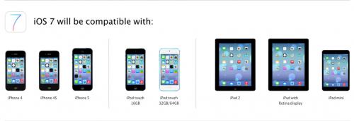 iOS 7 compatibilité 500x172 Certaines nouveautés iOS 7 non supportées sur votre ancien iPhone