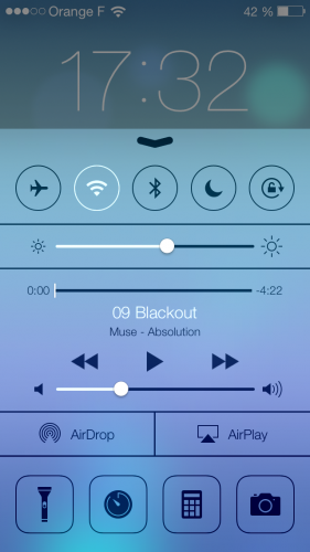 iOS 7 ecran verrouillage 21 281x500 Aperçu diOS 7 par App4Phone : Lécran verrouillé