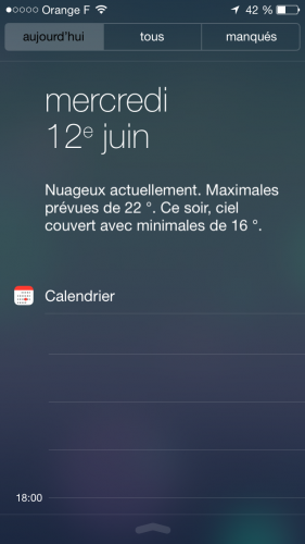 iOS 7 ecran verrouillage 3 281x500 Aperçu diOS 7 par App4Phone : Lécran verrouillé