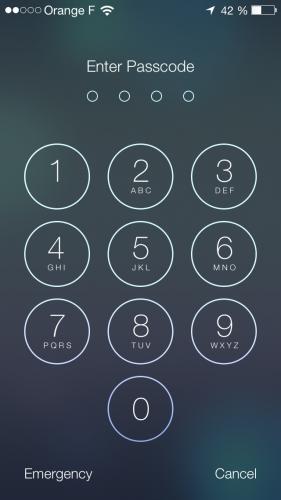 iOS 7 ecran verrouillage 4 281x500 Aperçu diOS 7 par App4Phone : Lécran verrouillé