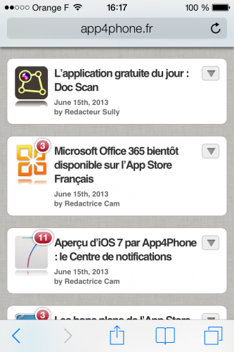 iOS 7 safari 1 333x500 Aperçu diOS 7 par App4Phone : Safari