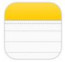 notes appli Aperçu diOS 7 par App4Phone : Lapplication Notes