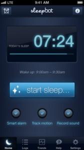 sleepbot 1 168x300 Lapplication gratuite du jour: Sleepbot   Prenez soin de votre sommeil