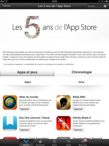 5 ans App Store 375x500 Des applications gratuites pour les 5 ans de lApp Store