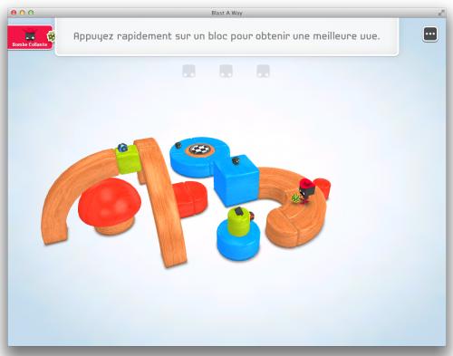 Capture d'écran 2013 07 02 à 20.39.18 500x393 App4mac: Blast A Way, un puzzle en trois dimensions (4,49€)