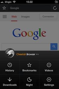IMG 2767 L'application gratuite du Jour : Cheetah Browser
