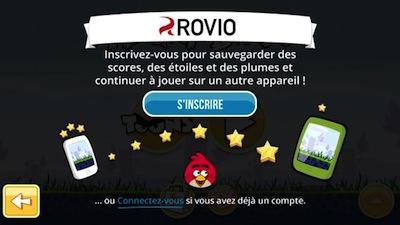 Rovio Synchro Rovio permet enfin la synchronisation en ligne des parties sur Angry Birds