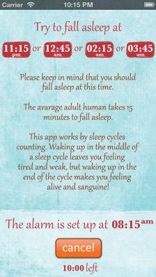 Sleep alarm clock Les bons plans de lApp Store ce lundi 22 juillet 2013
