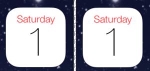 Centrage iOS 7  300x142 iOS 7 : Des corrections graphiques pour la bêta 4