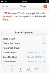 IMG 4244 L'application gratuite du Jour : Whitespace