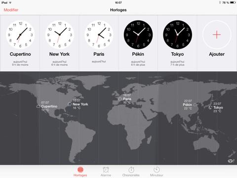horloge ios7 iOS 7 ne veut plus des horloges suisses...