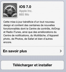 iOS 7 Log 277x300 iOS 7 disponible pour iPhone, iPad et iPod Touch