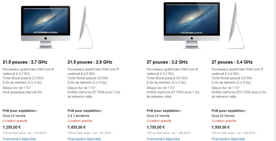 imac haswell La gamme iMac renouvelée !