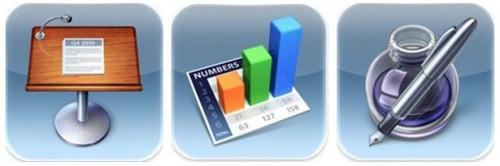 iwork ios 500x166 Les Applis dApple : Pages, Numbers, Keynotes... gratuites pour les nouveaux iPhone 5C et 5S !