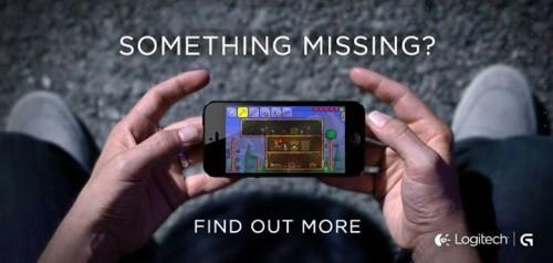 logitech manette 1 500x238 Une manette de jeu Logitech pour iPhone verra le jour prochainement