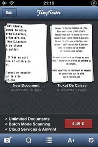 2013 10 30 21.16 L'application gratuite du Jour : TinyScan