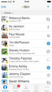 Test de IM+ Pro 7 (4,99€) : Tous vos réseaux sociaux dans une application !