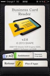4 200x300 Test de Business Card Reader Pro (5,99€) : Toutes vos cartes de visite dans votre poche