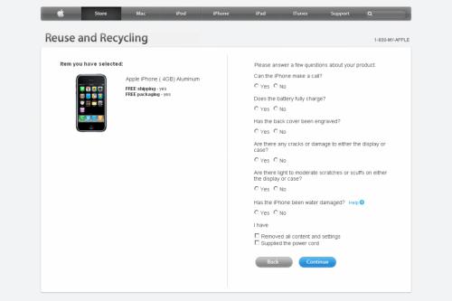 Apple Computer Reuse and Recycling 1050x700 500x333 Apple étend son programme de reprise des iPhones en Apple Store à toute lEurope