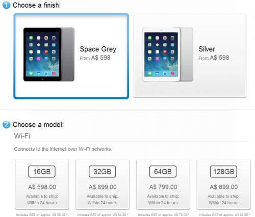 Apple store iPad Air australien 500x426 LiPad Air est déjà disponible sous 24h à lautre bout du monde
