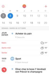 IMG 0054 L'application gratuite du Jour : Sunrise Calendrier