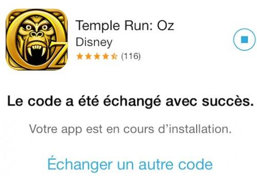 Temple Run Oz Offert Apple 500x342 Lexcellent jeu Temple Run Oz offert gratuitement par Apple!