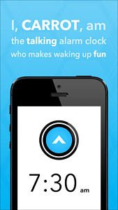 carrot alarme screen Les mises à jour d'applications existantes AppStore du jour : gMusic 2, Carrot...