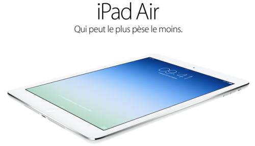 iPad Air 500x286 CONCOURS : Découvrez le gagnant de liPad Air (479€)