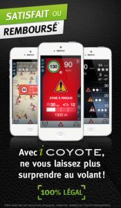 icoyote screen Les mises à jour d'applications existantes AppStore du jour : iCoyote, Fotopedia...
