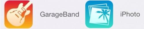 ilife2 500x101 MàJ à venir : Apple dévoile les icônes de GarageBand et iPhoto