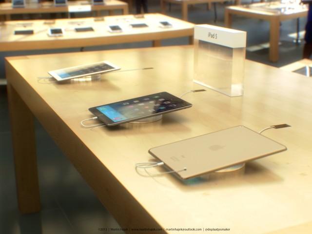 ipad 5 concept Un concept diPad 5 dans un Apple Store en image