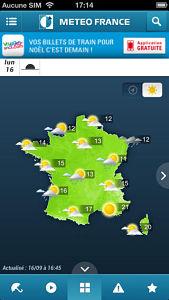 meteo france screen opt Les mises à jour d'applications AppStore du jour : Vine, Météo France...