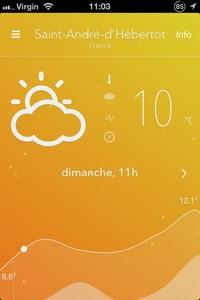 2013 11 03 11.03 L'application gratuite du Jour : Nice Weather 2